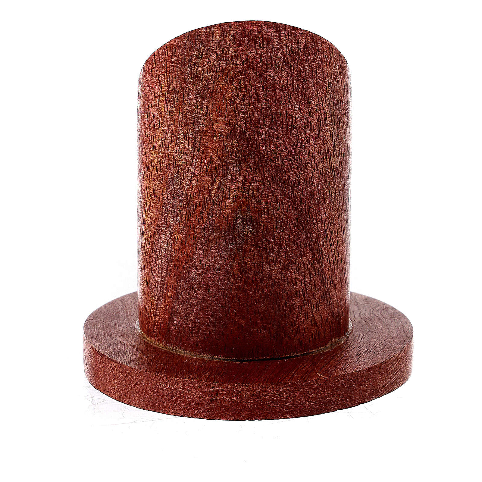 Base portacandela legno mango scuro 3 cm 3