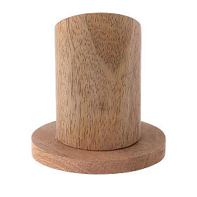 Natural mango wood candle holder 1 1/4 in s3