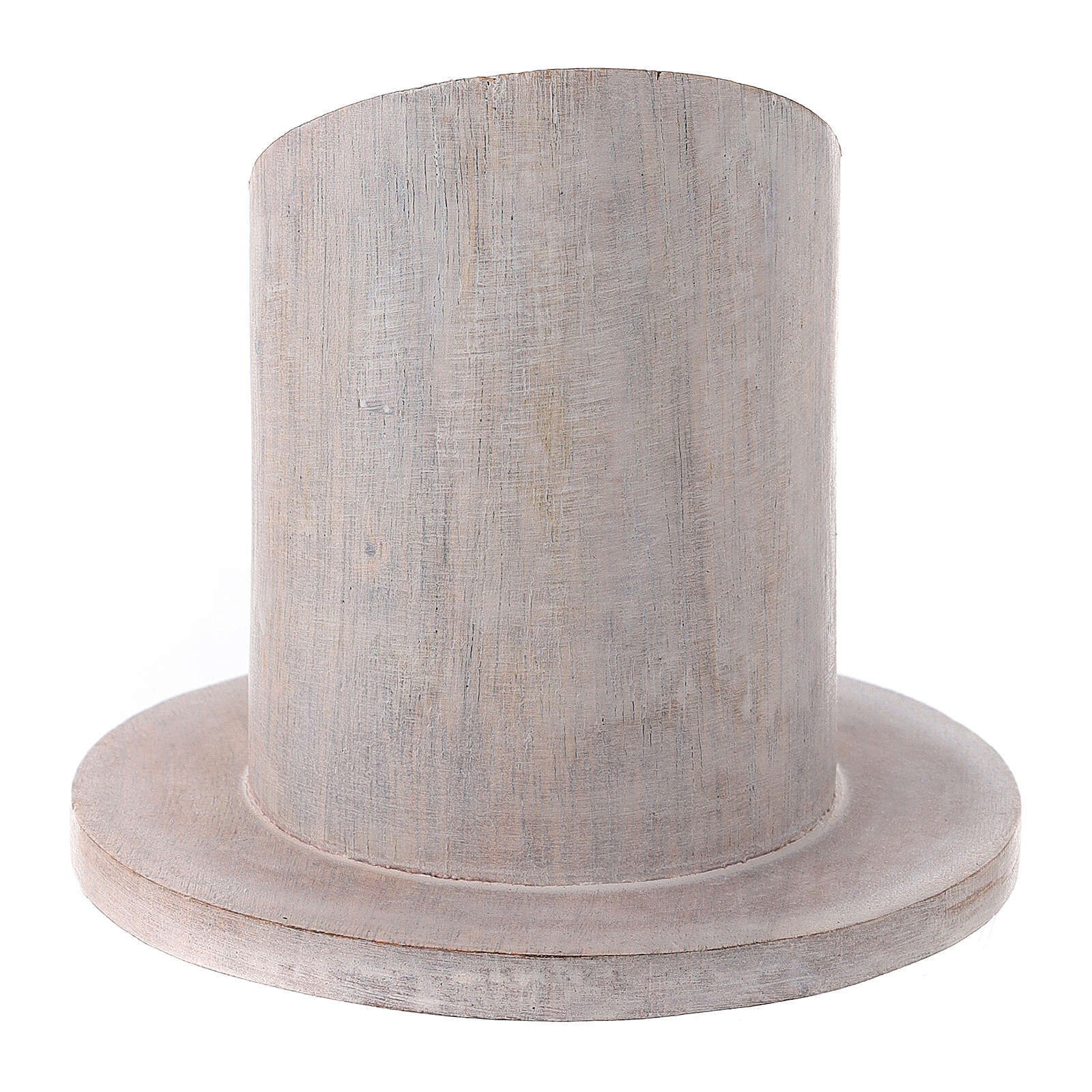 Pale mango wood candle holder 2 in 3