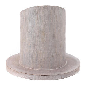 Pale mango wood candle holder 2 in s3