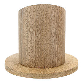 Natural mango wood candle holder 2 in s3