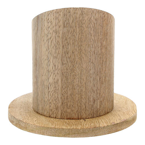 Natural mango wood candle holder 2 in 3