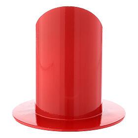 Portacandela rosso lucido ferro 5 cm s3