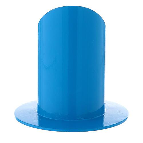 Portacandela blu elettrico 5 cm ferro 3
