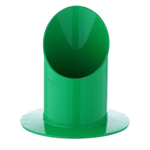 Base portacandela verde ferro 5 cm 1