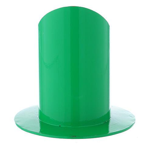 Base portacandela verde ferro 5 cm 3