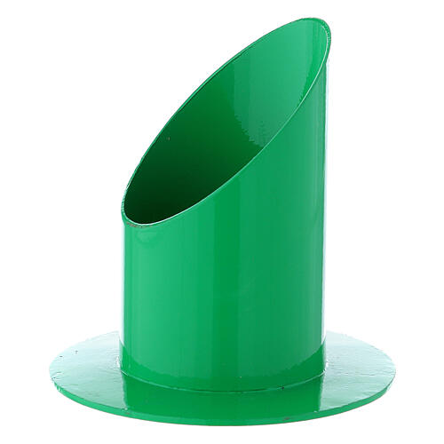 Green metal candle holder 2 in 2