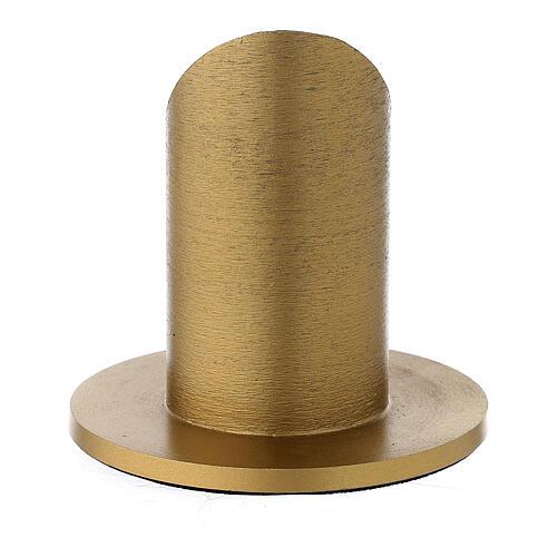 Portavela aluminio dorado satinado 4 cm 3