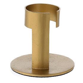 Portavela aluminio dorado banda 4 cm s3