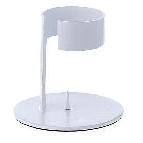 Portavela faja aluminio blanco 4 cm s2