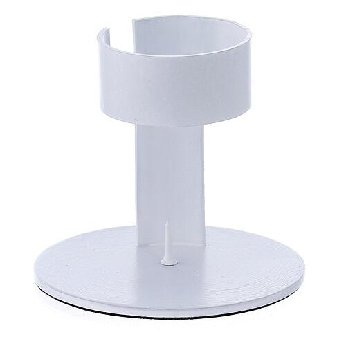 Portavela faja aluminio blanco 4 cm 1