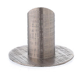 Portavela efecto tejido latón niquelado 3 cm s3
