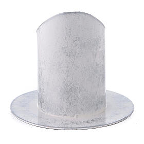 Portacirio 5 cm hierro blanco plata s3
