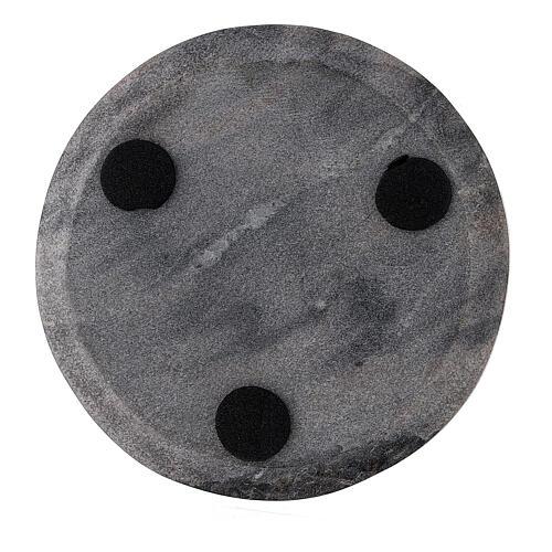 Plato portavela piedra redondo 10 cm 3