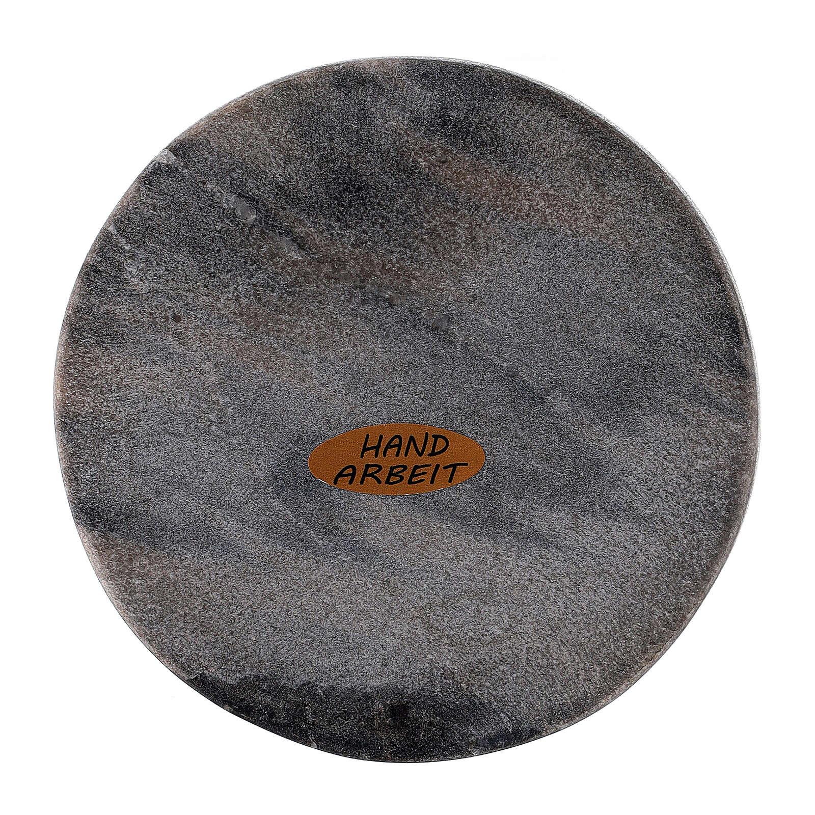 Piatto portacandela pietra rotondo 10 cm 3