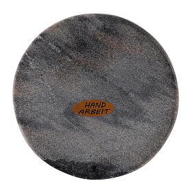 Piatto portacandela pietra rotondo 10 cm s2