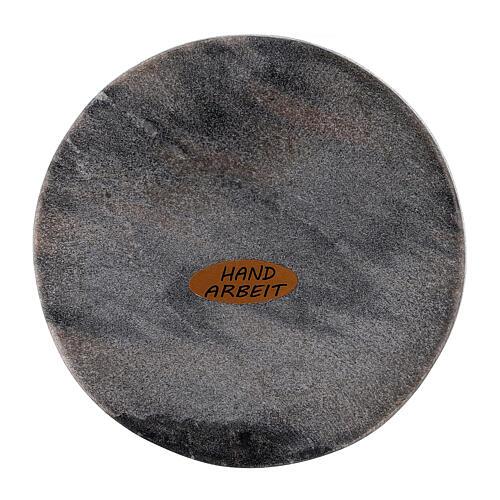 Piatto portacandela pietra rotondo 10 cm 2