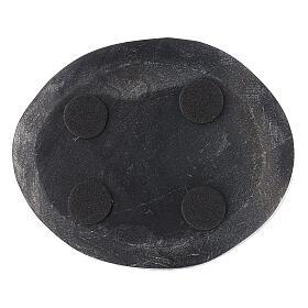 Piatto ovale pietra naturale 10x8 cm s3