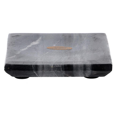 Plato portavela cuadrado piedra natural 10x10 cm 1