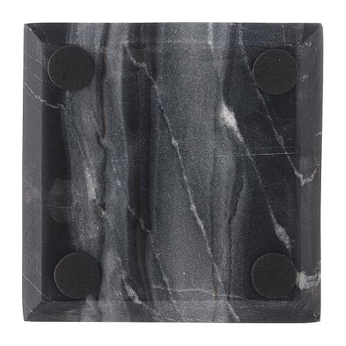 Plato portavela cuadrado piedra natural 10x10 cm 3