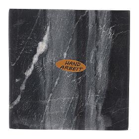Piatto portacandela quadrato pietra naturale 10x10 cm s2