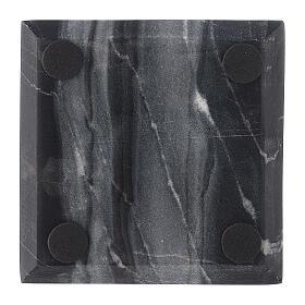 Piatto portacandela quadrato pietra naturale 10x10 cm s3