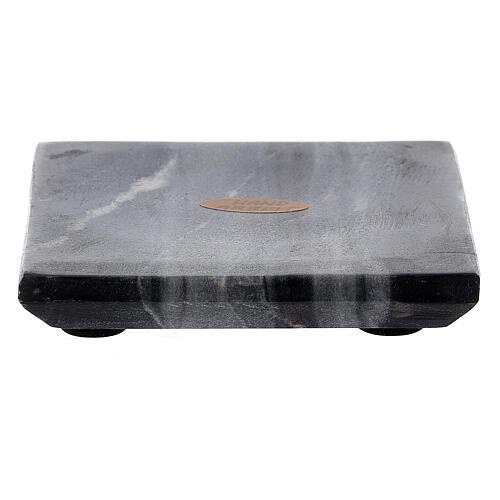 Piatto portacandela quadrato pietra naturale 10x10 cm 1