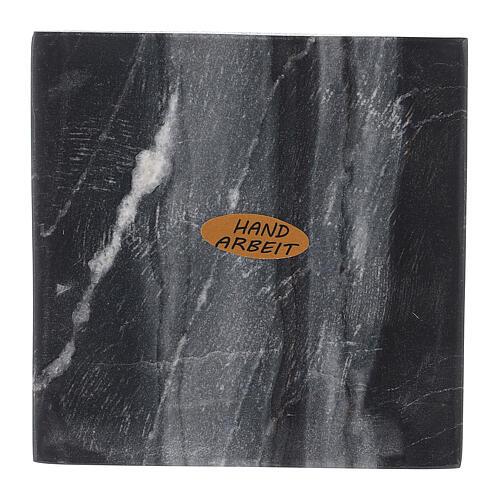 Piatto portacandela quadrato pietra naturale 10x10 cm 2