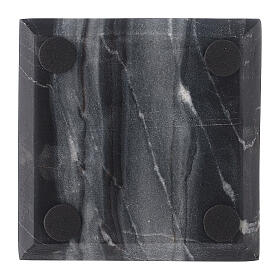 Square stone candle holder plate 4x4 in s3