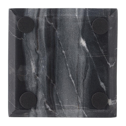 Square stone candle holder plate 4x4 in 3