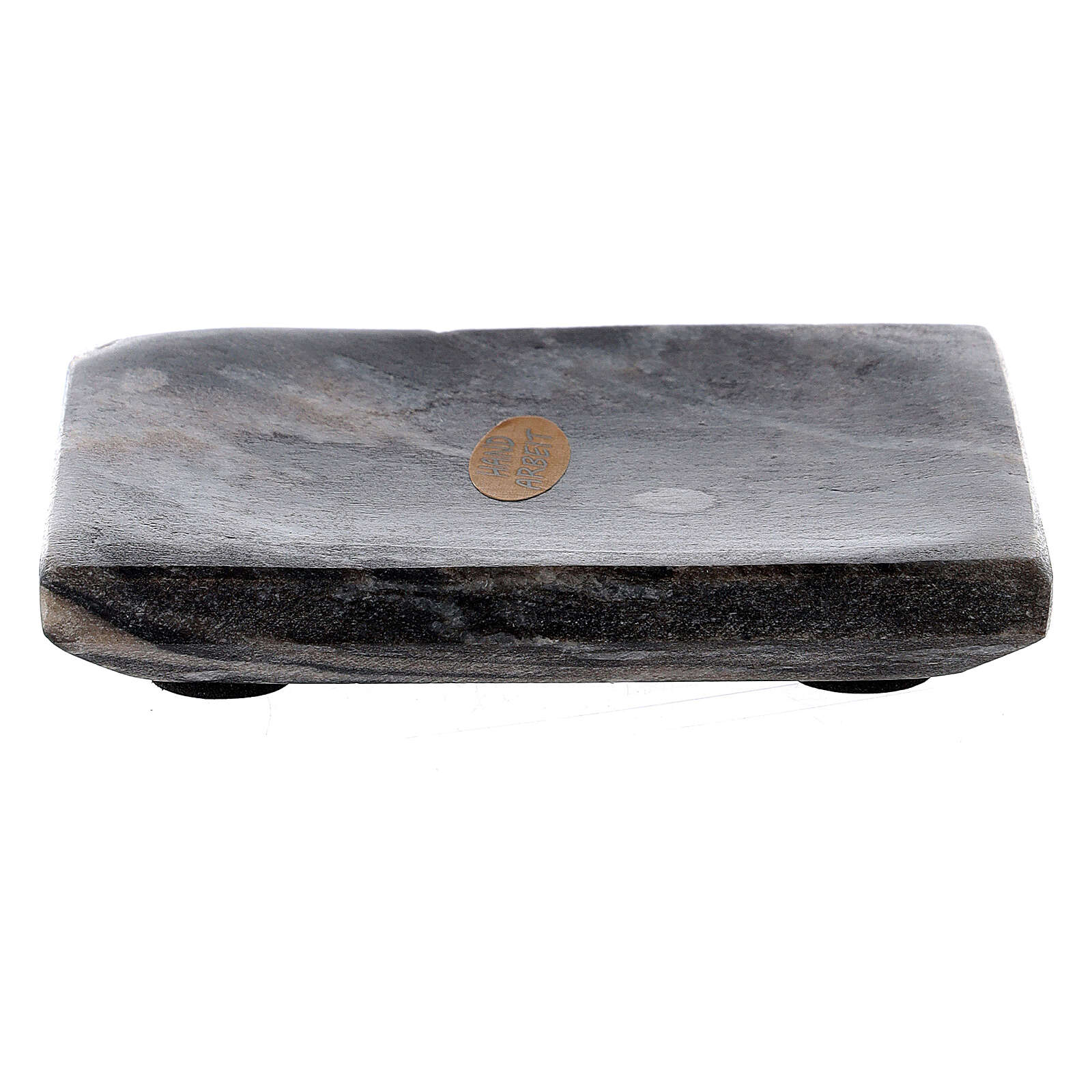 Rectangular stone candle holder plate 4x3 in 3