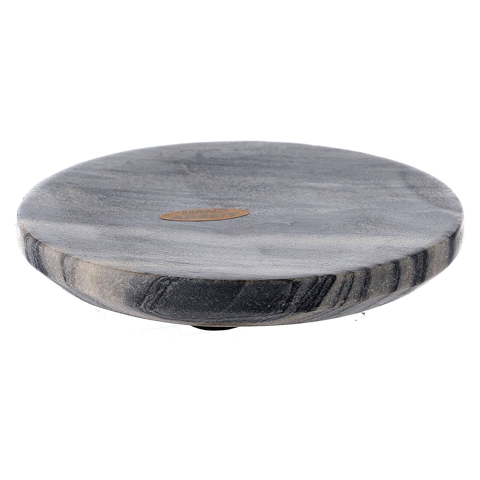 Stone candle holder plate 4 3/4 in 3