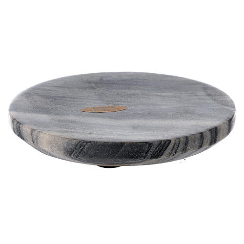 Stone candle holder plate 4 3/4 in 1