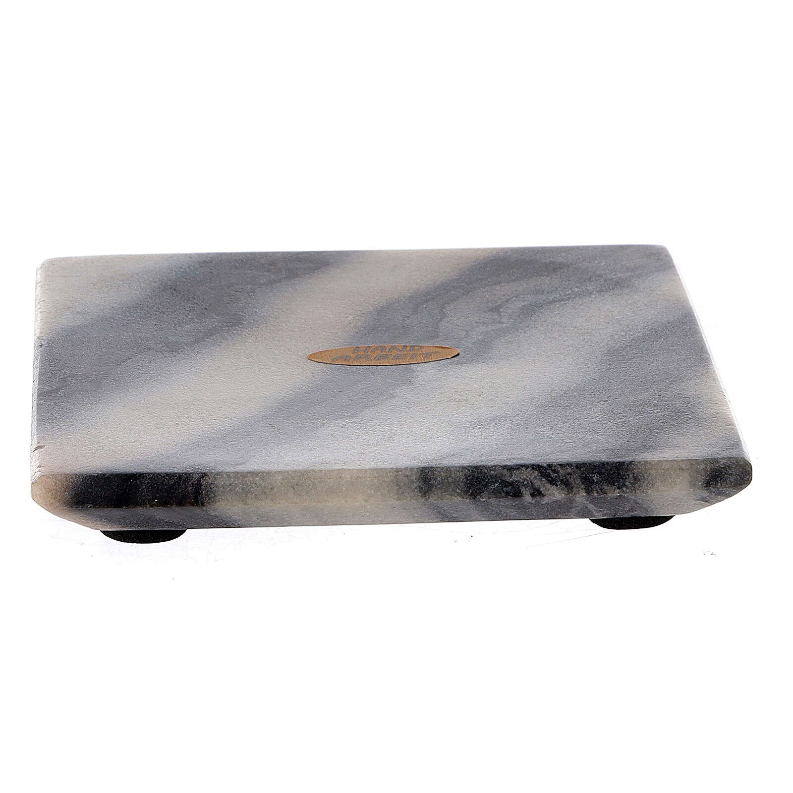 Assiette pour bougie 12x12 cm pierre naturelle 3