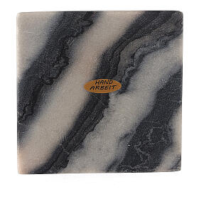 Assiette pour bougie 12x12 cm pierre naturelle s1