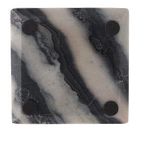 Assiette pour bougie 12x12 cm pierre naturelle s3