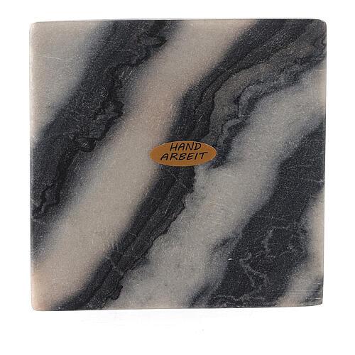 Assiette pour bougie 12x12 cm pierre naturelle 1