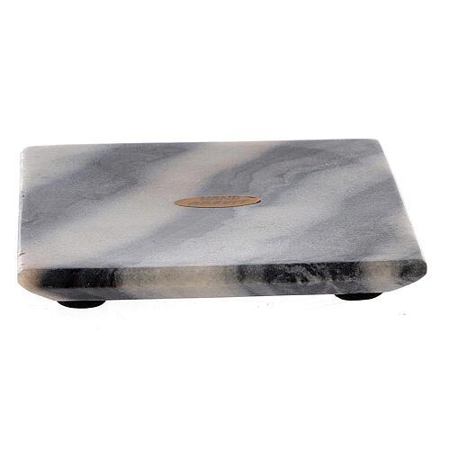 Piatto per candele 12x12 cm pietra naturale 2