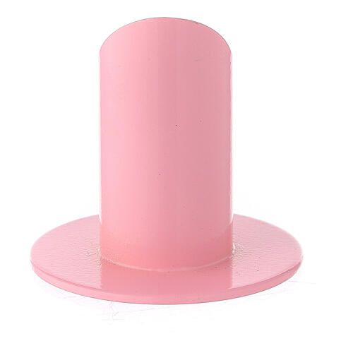 Pink metal candle holder 1 1/2 in 3