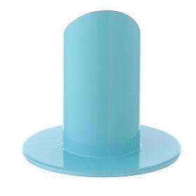 Portavela azul pastel 4 cm hierro s3