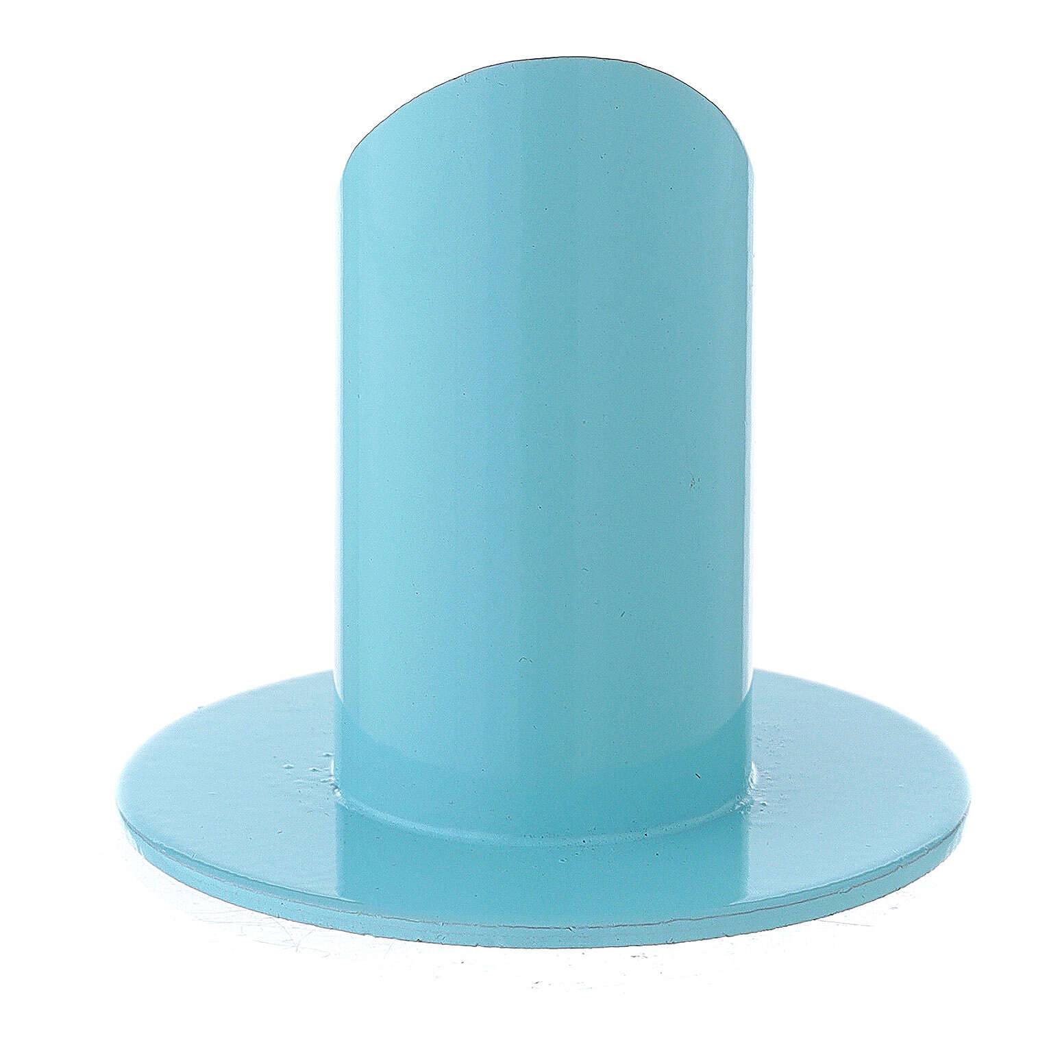 Light blue metal candle holder 1 1/2 in 3