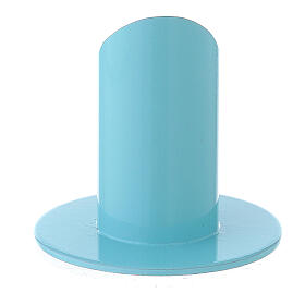 Light blue metal candle holder 1 1/2 in s3