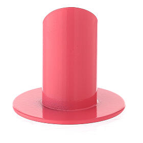 Raspberry pink metal candle holder 1 1/4 in s3