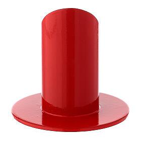 Base portavela roja hierro 3 cm s3