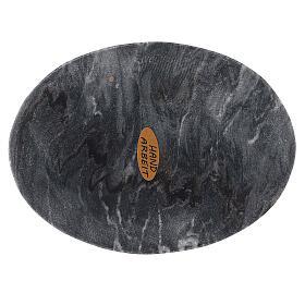 Assiette porte-bougie ovale pierre naturelle 13x10 cm s1
