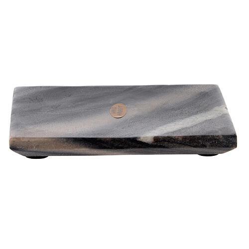 Plato rectangular velas piedra natural 13x10 cm 1