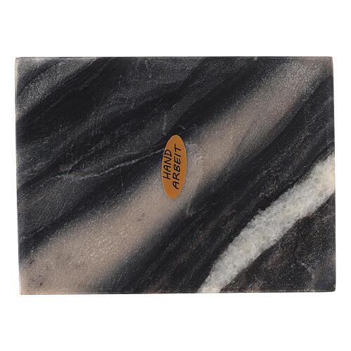 Plato rectangular velas piedra natural 13x10 cm 2
