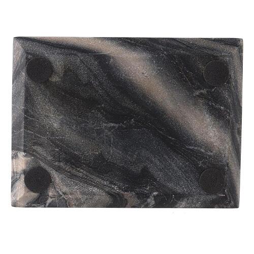 Plato rectangular velas piedra natural 13x10 cm 3