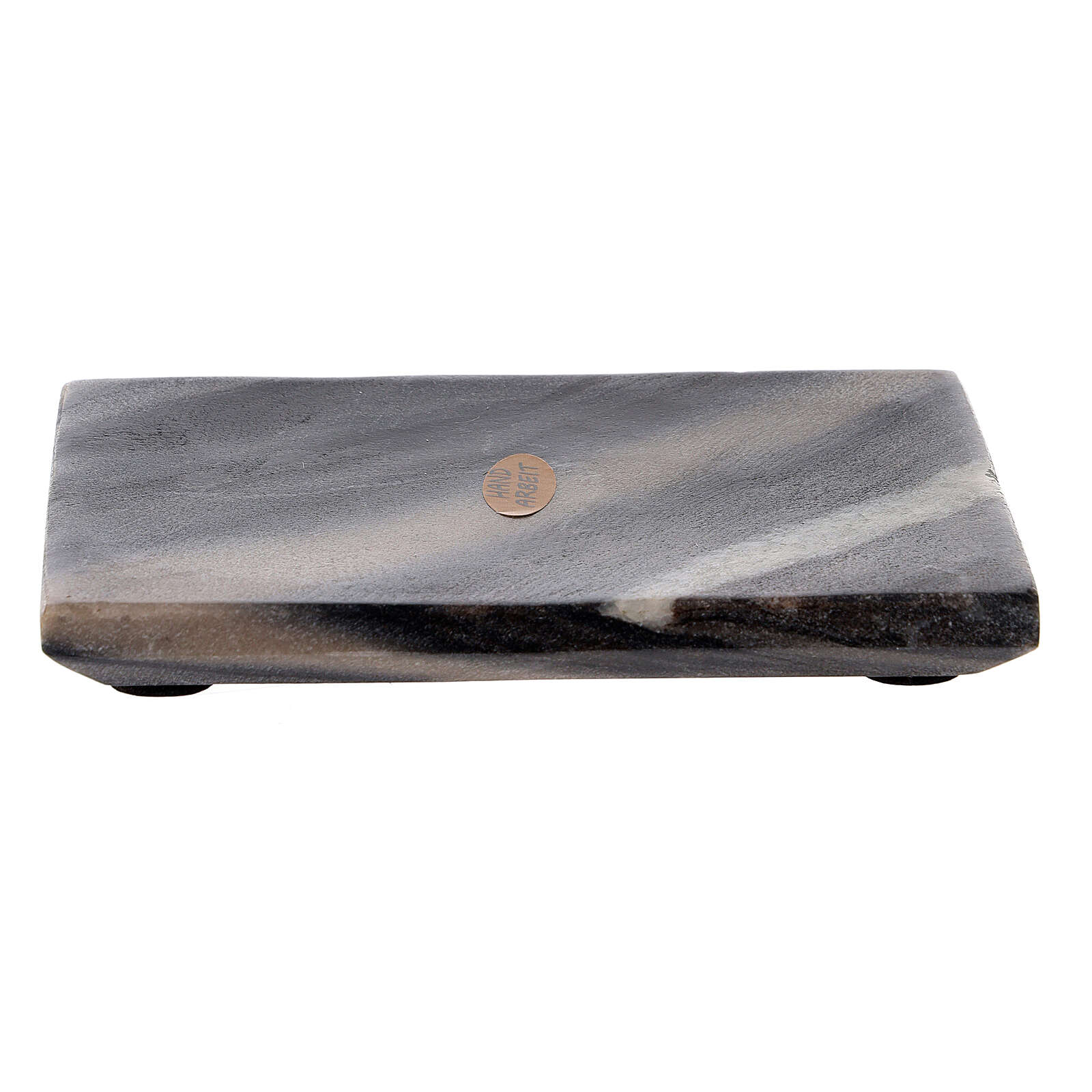 Rectangular stone candle holder 5x4 in 3