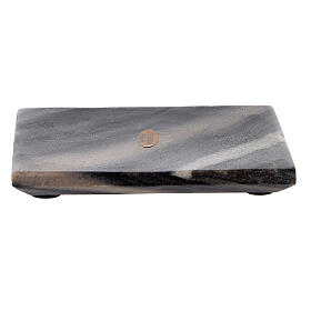 Rectangular stone candle holder 5x4 in s1